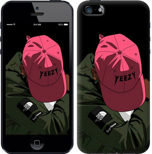 "Чехол на iPhone SE logo de yeezy ""3995c-214-15886"""