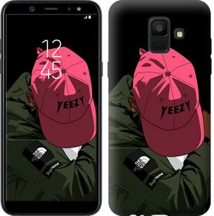 """Чехол на Samsung Galaxy A6 2018 logo de yeezy """"3995u-1480-15886"""""""