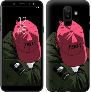 "Чехол на Samsung Galaxy A6 Plus 2018 logo de yeezy ""3995c-1495-15886"""