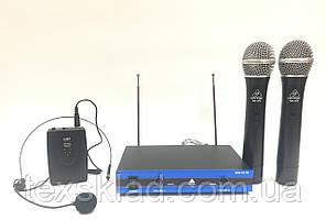 Радиосистемма с двумя ручными и наголовным микрофоном Behringer WM-501R