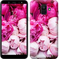 "Чехол на Samsung Galaxy A6 2018 Розовые пионы ""2747u-1480-15886"""