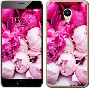 """Чехол на Meizu M5 Розовые пионы """"2747u-420-15886"""""""