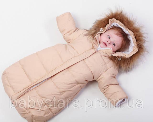 теплый комбинезон для новорожденных