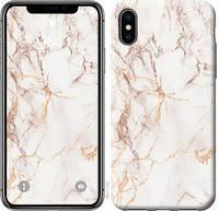 """Чехол на iPhone X Белый мрамор """"3847c-1050-15886"""""""