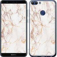 "Чехол на Huawei P Smart Белый мрамор ""3847c-1346-15886"""