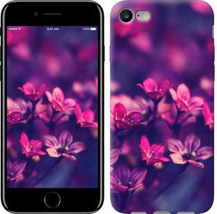 """Чехол на iPhone 8 Пурпурные цветы """"2719c-1031-15886"""""""