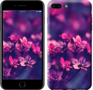 """Чехол на iPhone 7 Plus Пурпурные цветы """"2719c-337-15886"""""""