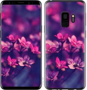 "Чехол на Samsung Galaxy S9 Пурпурные цветы ""2719c-1355-15886"""