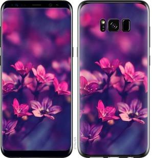 "Чехол на Samsung Galaxy S8 Пурпурные цветы ""2719c-829-15886"""