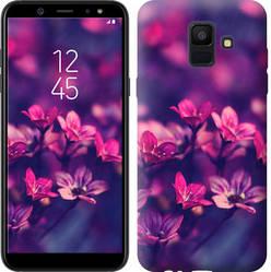 "Чехол на Samsung Galaxy A6 2018 Пурпурные цветы ""2719u-1480-15886"""