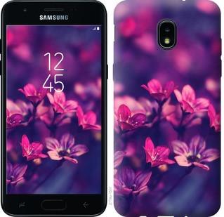 "Чехол на Samsung Galaxy J3 2018 Пурпурные цветы ""2719u-1501-15886"""