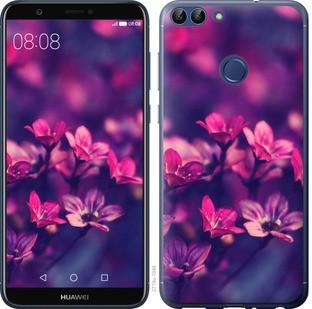 """Чехол на Huawei P Smart Пурпурные цветы """"2719c-1346-15886"""""""