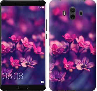 """Чехол на Huawei Mate 10 Пурпурные цветы """"2719u-1116-15886"""""""