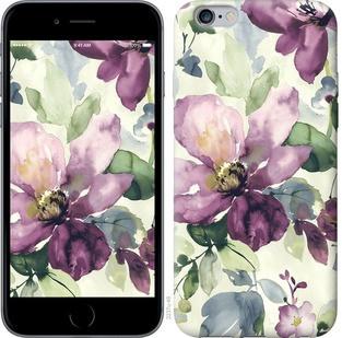 "Чехол на iPhone 6 Plus Цветы акварелью ""2237c-48-15886"""