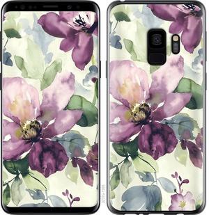 """Чехол на Samsung Galaxy S9 Цветы акварелью """"2237c-1355-15886"""""""