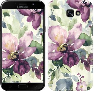 """Чехол на Samsung Galaxy A7 (2017) Цветы акварелью """"2237c-445-15886"""""""