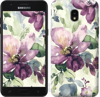"""Чехол на Samsung Galaxy J7 2018 Цветы акварелью """"2237u-1502-15886"""""""