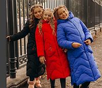 Зимнее пальто для девочек ZKD-10 рр 134-164 электрик