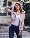 Кожаная женская куртка на замше 20kr135, фото 2