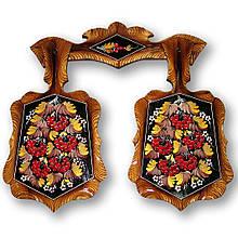 Набор досок, доски декоративные, сувенир петриковская роспись