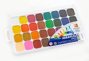 Фарби акварельні Промінь Класика 32 кольору в пластиковій упаковці 26С1579-08
