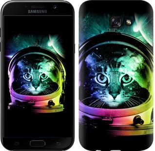 "Чехол на Samsung Galaxy A7 (2017) Кот-астронавт ""4154c-445-15886"""