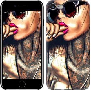 "Чехол на iPhone 8 Девушка в тату ""4001c-1031-15886"""