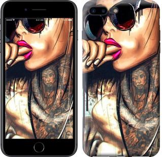 "Чехол на iPhone 8 Plus Девушка в тату ""4001c-1032-15886"""
