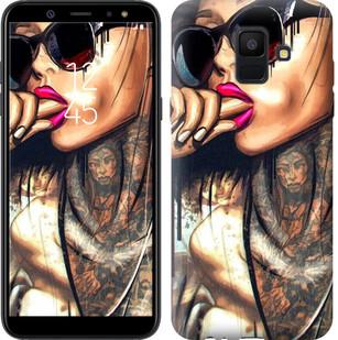 "Чехол на Samsung Galaxy A6 2018 Девушка в тату ""4001u-1480-15886"""