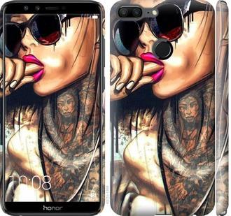 """Чехол на Huawei Honor 9 Lite Девушка в тату """"4001c-1359-15886"""""""