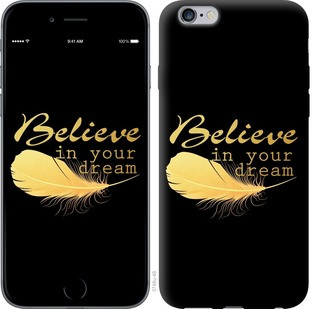 "Чехол на iPhone 6 Plus Верь в свою мечту ""3748c-48-15886"""