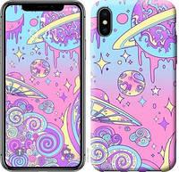"""Чехол на iPhone X Розовая галактика """"4146c-1050-15886"""""""