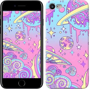 """Чехол на iPhone 8 Розовая галактика """"4146c-1031-15886"""""""
