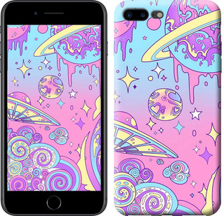 """Чехол на iPhone 7 Plus Розовая галактика """"4146c-337-15886"""""""
