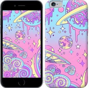 """Чехол на iPhone 6s Розовая галактика """"4146c-90-15886"""""""