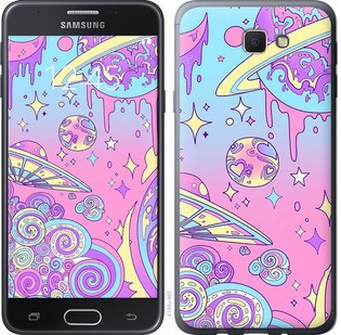"Чехол на Samsung Galaxy J5 Prime Розовая галактика ""4146u-465-15886"""