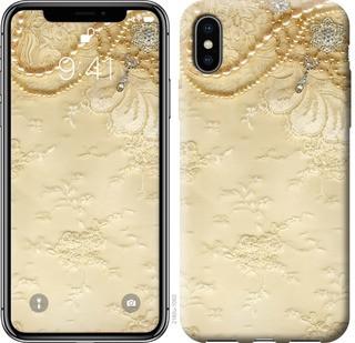 "Чехол на iPhone X Кружевной орнамент ""2160c-1050-15886"""