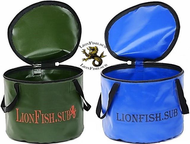Skladnyye Vodra LionFish.sub dlya rybalki, prikormki, okhoty. Udobnaya Germo sumka dlya trofeyev