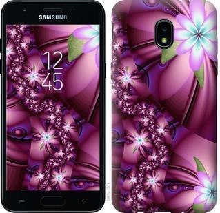 "Чехол на Samsung Galaxy J3 2018 Цветочная мозаика ""1961u-1501-15886"""