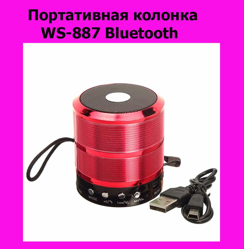 Портативная колонка WS-887 Bluetooth!АКЦИЯ