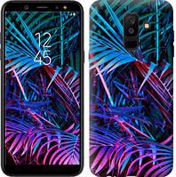 """Чехол на Samsung Galaxy A6 Plus 2018 Папоротник под ультрафиолетом """"4069c-1495-15886"""""""