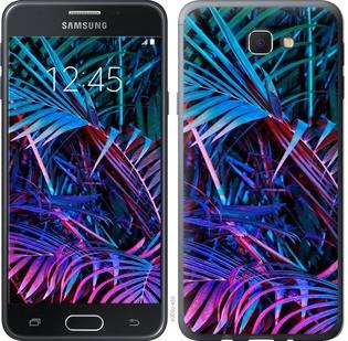 """Чехол на Samsung Galaxy J5 Prime Папоротник под ультрафиолетом """"4069u-465-15886"""""""