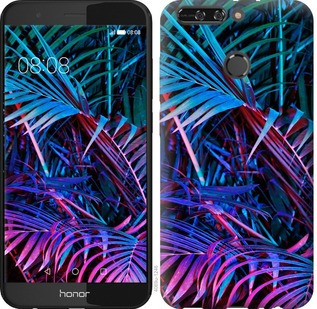 "Чехол на Huawei Honor V9 / Honor 8 Pro Папоротник под ультрафиолетом ""4069u-1246-15886"""