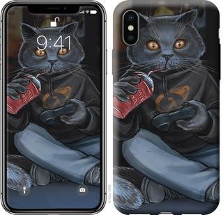 """Чехол на iPhone X gamer cat """"4140c-1050-15886"""""""