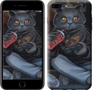 """Чехол на iPhone 8 Plus gamer cat """"4140c-1032-15886"""""""