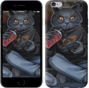 """Чехол на iPhone 6 Plus gamer cat """"4140c-48-15886"""""""