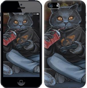 """Чехол на iPhone SE gamer cat """"4140c-214-15886"""""""