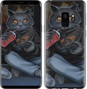 "Чехол на Samsung Galaxy S9 gamer cat ""4140c-1355-15886"""
