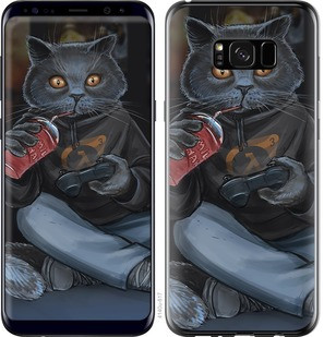 "Чехол на Samsung Galaxy S8 Plus gamer cat ""4140c-817-15886"""