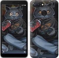 """Чехол на Xiaomi Redmi 6 gamer cat """"4140u-1521-15886"""""""
